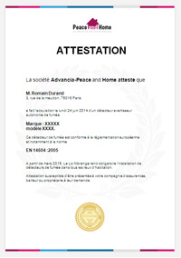 attestation daaf loi morange peace and home